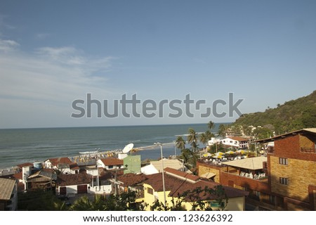 beautiful view in Paria da Pipa Brazil - stock photo