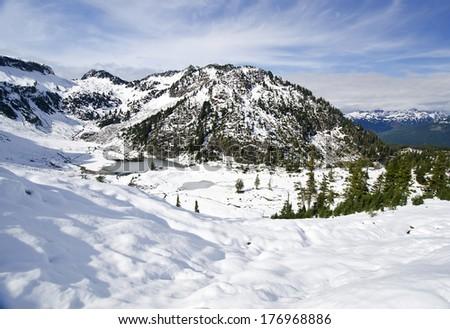 Beautiful View near Mt Shuksan  - stock photo