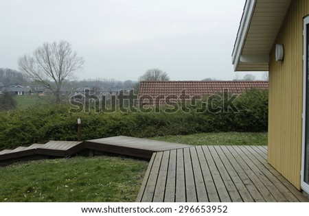 Beautiful view of a settlement on Langeland in Denmark