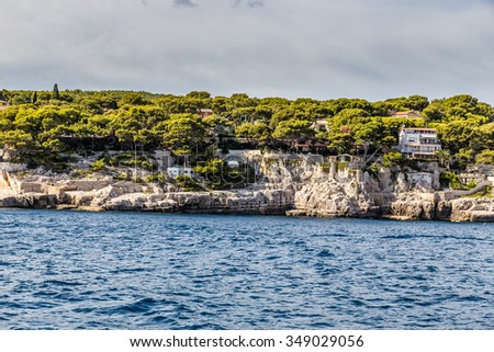 Beautiful View Of Coastline Between Calanques And Cassis - France, Europe - stock photo