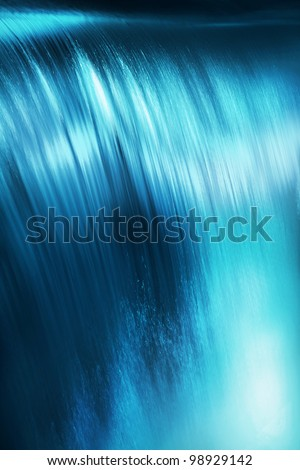 Beautiful view of flowing water - stock photo