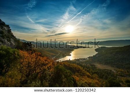 Beautiful view of Gorges du Verdon, France - stock photo
