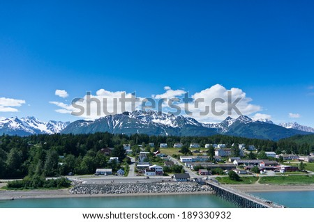 Beautiful view of Haines city near Glacier Bay, Alaska, USA - stock photo