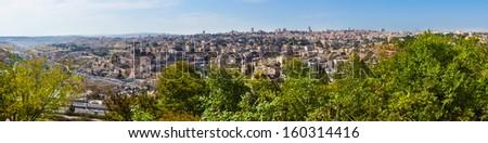 Beautiful view of Jerusalem city, Israel - stock photo