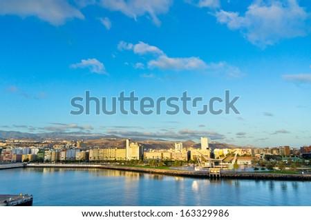 Beautiful view of Las Palmas city, Gran Canaria, Spain - stock photo