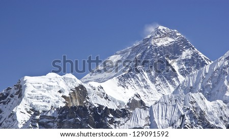 Beautiful view of Mount Everest, Sagarmatha National Park, Himalayas, Nepal - stock photo