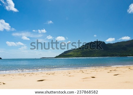 Beautiful view of Nawiliwili, Kauai Island, Hawaii, USA - stock photo
