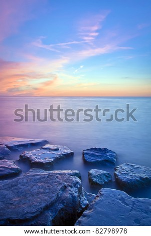 Beautiful view of Niagara On The Lake during sunset - stock photo