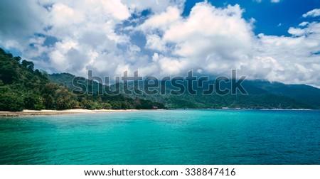 Beautiful view of sea landscape in Malaysia - stock photo