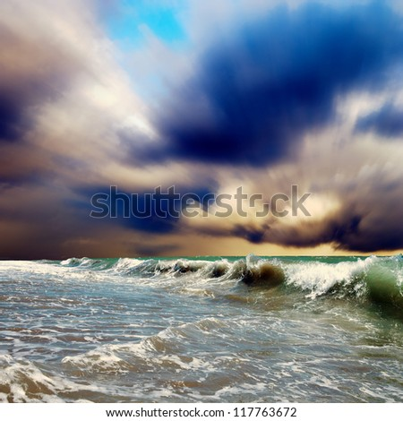 Beautiful View of seascape - stock photo