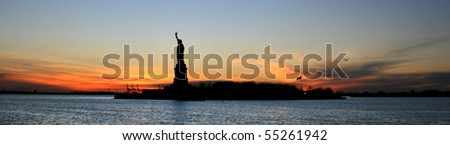 Beautiful view of Statue of Liberty New York
