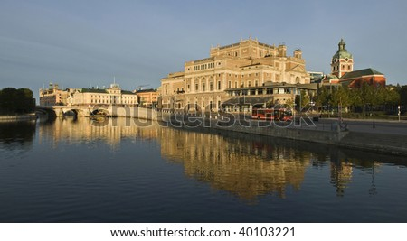 Beautiful view of Stockholm Opera  building