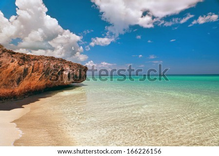Beautiful view of the Atlantic Ocean, Varadero, Cuba  - stock photo