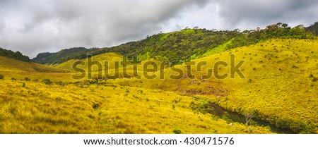 Beautiful view of The Horton Plains.  - stock photo