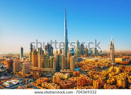 Beautiful view on Dubai downtown skyline,Dubai,United Arab Emirates