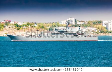 Beautiful view on lagoon in Sevastopol  - stock photo