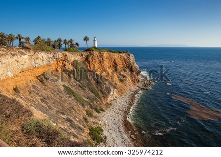 Beautiful view on point vicente in rancho palos verdes in Los Angeles, California. - stock photo