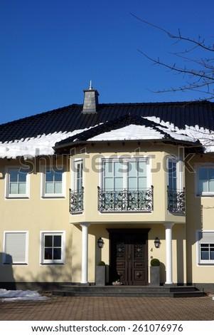 beautiful villa - stock photo