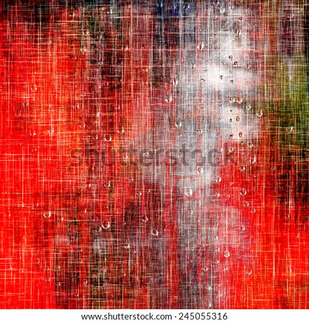 Beautiful vintage background. With different color patterns: red (orange); brown; green - stock photo