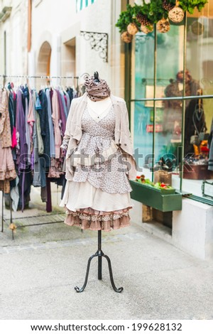 Beautiful vintage dress on mannequin