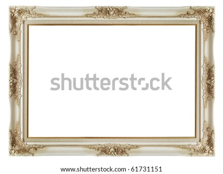 beautiful vintage frame on white background - stock photo