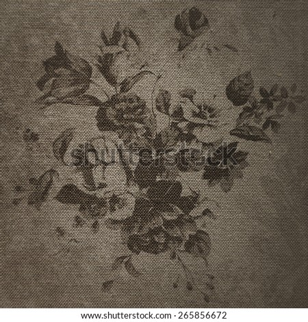 Beautiful vintage pattern for retro wallpapers. Abstract background with flowers. - stock photo