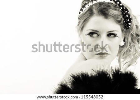 beautiful vintage woman