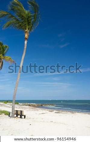 Beautiful Virginia Key Beach in Miami. - stock photo