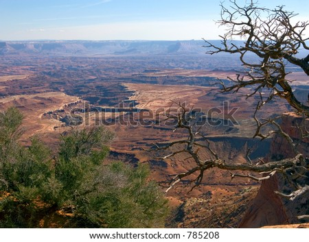 Beautiful vista in Canyonlands National Park in Utah - stock photo