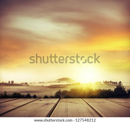 Beautiful warm New Zealand scene - stock photo