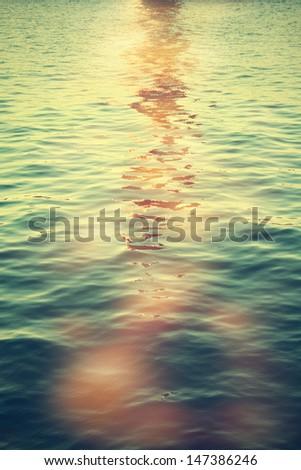 Beautiful water background - stock photo