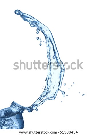 Beautiful water splash isolated on white