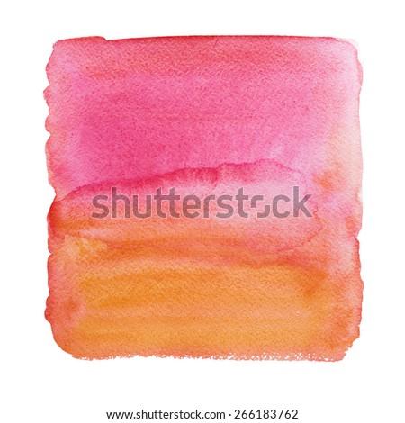 Beautiful watercolor background. Watercolor texture. Wet Watercolor Ombre Background - stock photo