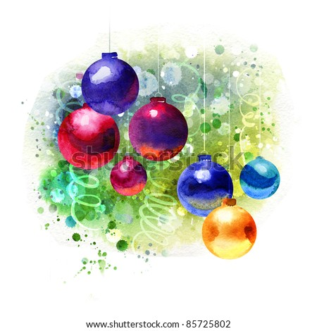 Christmas Painting Stock Images Royalty Free Images