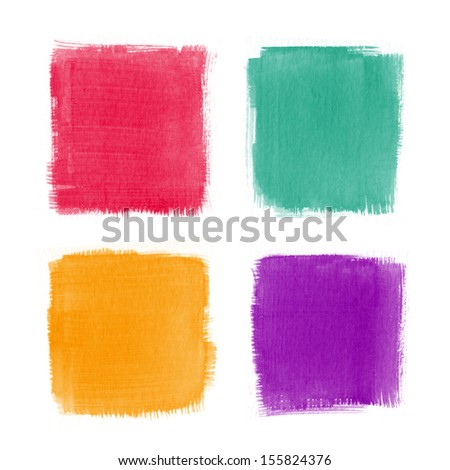 Beautiful watercolor design elements - stock photo