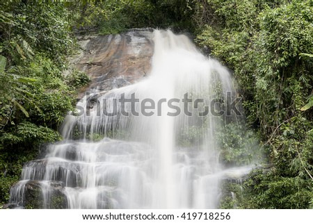 Beautiful Waterfall in Chiang Mai Thailand,Montatharn Waterfall is on the way to Doi suthep Chiang Mai Thailand
