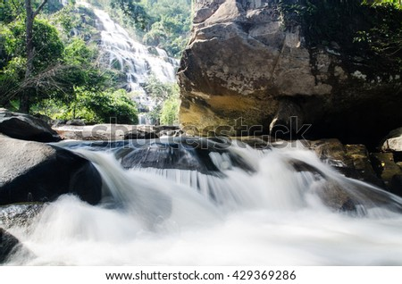 Beautiful waterfall in Inthanon National Park, Chiang Mai, Thailand