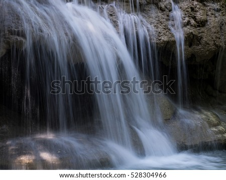 Beautiful waterfall in the rainforest