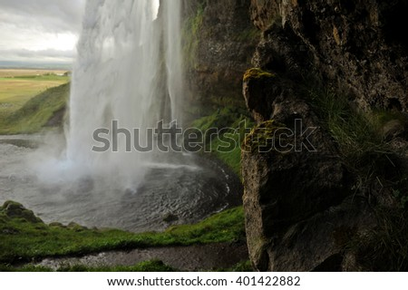 Beautiful waterfall landscape