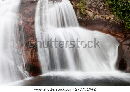Beautiful waterfall located in a mountain of Spain