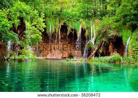 Beautiful Waterfalls - stock photo