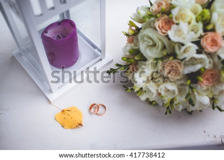 beautiful wedding bouquet - stock photo