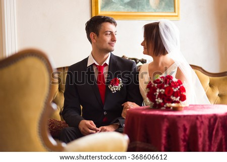Beautiful wedding couple kissing stock photo 361580927 shutterstock