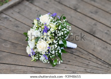 Beautiful wedding flowers bouquet - stock photo