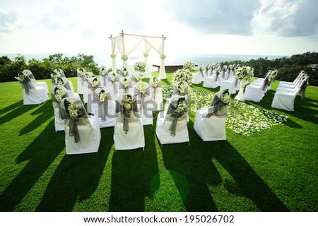 Beautiful wedding set up - stock photo