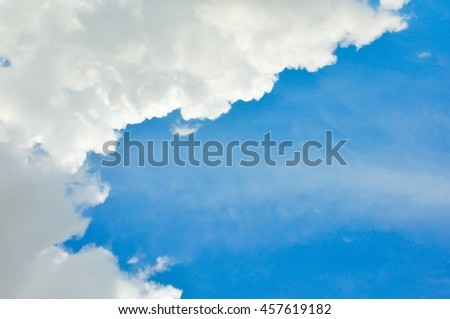 Beautiful white cloud on blue sky background,white cloud and blue sky - stock photo