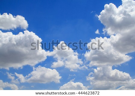 Beautiful white clouds&Bright blue sky