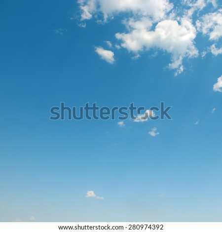beautiful white clouds in blue sky - stock photo