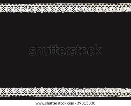 beautiful white lace background - stock photo