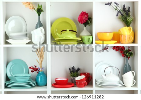 Dishes set stock images royalty free images vectors shutterstock - Beautiful photoshelves ...